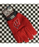 Wisconsin Badgers NCAA University Textured Palm Utility Work Gloves Embr... - $10.71