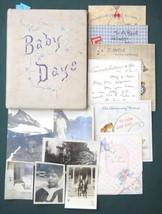 1919 antique BABY BOOK,GREETING CARDS,FAMILY PHOTOS~DORIS MARY KNODERER ... - $64.95