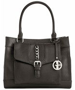 NWT Giani Bernini Pebble Leather Small Satchel, Black - $71.28
