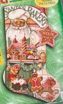 Bucilla Baker Santa Gingerbread Cookies Holiday Needlepoint Stocking Kit... - $324.95