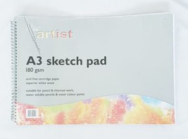180gsm A3 Sketch Pad Smooth White Drawing Artist Paper on SPIRAL Book - $10.12