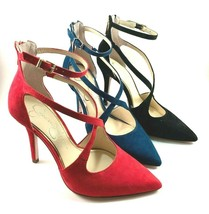 Jessica Simpson Wynnley Suede Leather Pointy Strappy Dress Pumps Choose ... - $84.00