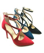 Jessica Simpson Wynnley Suede Leather Pointy Strappy Dress Pumps Choose ... - $75.60
