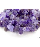 Natural Amethyst Gemstone 5-8mm Chip Beads 35'' For Bracelet or Necklace... - $3.78