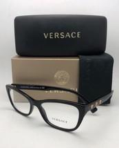New VERSACE Rx-able Eyeglasses VE 3249 GB1 54-16 Black & Gold Frames Medusa Logo