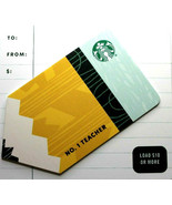 Starbucks 2021 No. 1 Teacher Recyclable Collectible Gift Card New No Value - $2.99