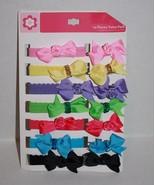Baby GIRLS Headbands Hair Bows Elastic Grosgrain Ribbon Rose Head Band 1... - $8.77