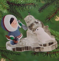 Hallmark 2000 Frosty Friends #21 Seal Sculpting Ornament - $11.95