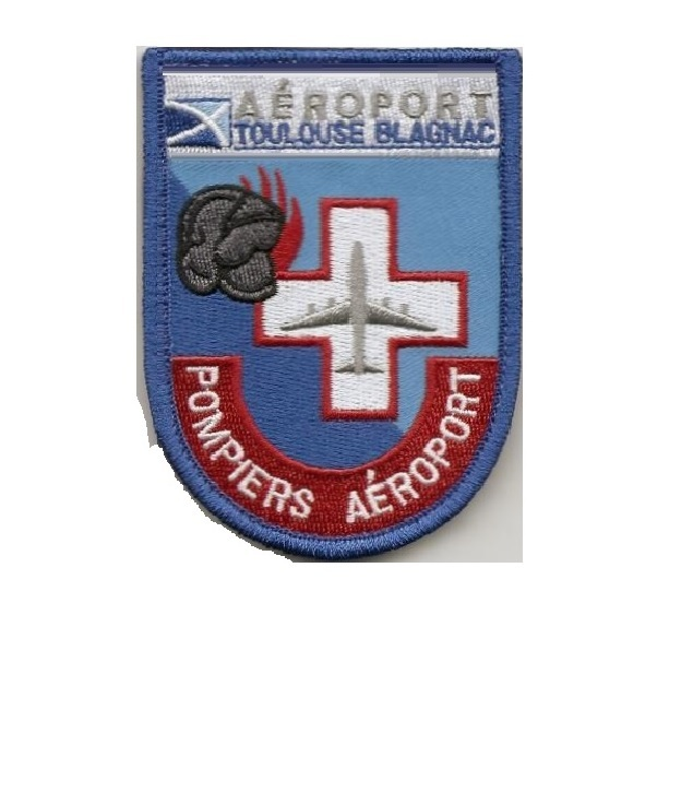 Rs a roport toulouse blagnac french airport fire department 90 x 65mm velcro 3.5 x 2.75 in 10.99