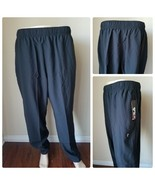 FILA Sport Tru Dry Woven Running Pants Joggers Gym Athletic Black Tie XXL - $13.47