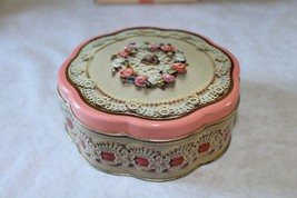 "Vintage 1981 Avon Empty Valentine's Collector's Tin ""Sweet Sentiments"" W... - $9.49"