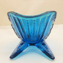 "LARGE 9"" SLEIGH Westmoreland LIGHT BLUE TEAL GLASS Centerpiece Bowl Candy Dish image 8"