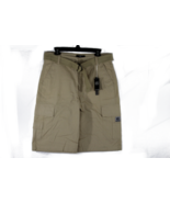 Tan Men Cargo Shorts with Belt Lightweight Relaxed Fit 8 Pocket Size 30 - $19.60