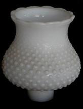 Nice Pressed Milk White Glass Hobnail Pattern Lantern Shade, VERY GOOD C... - $19.79