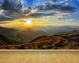 Sky Clouds Sunset Country Backdrop Wall Art Mural Wall Paper Self Adhesive Vinyl - $43.11+