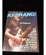 Kerrang #7 January 1982 Motorhead Ufo Rush Judas Priest Def Leppard Blac... - $14.99
