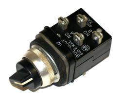 ALLEN BRADLEY 800T-H2 SELECTOR SWITCH W/ 800T-XA9, 800T-XA CONTACT BLOCKS image 1