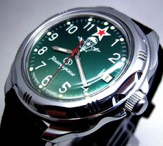 New! Russian Vostok Military Komandirskie Watch #211307 New - $64.98