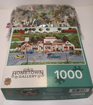 1000 Piece Jigsaw Puzzle -The Old Filling Station - Hometown Gallery Good Cond. - $7.25