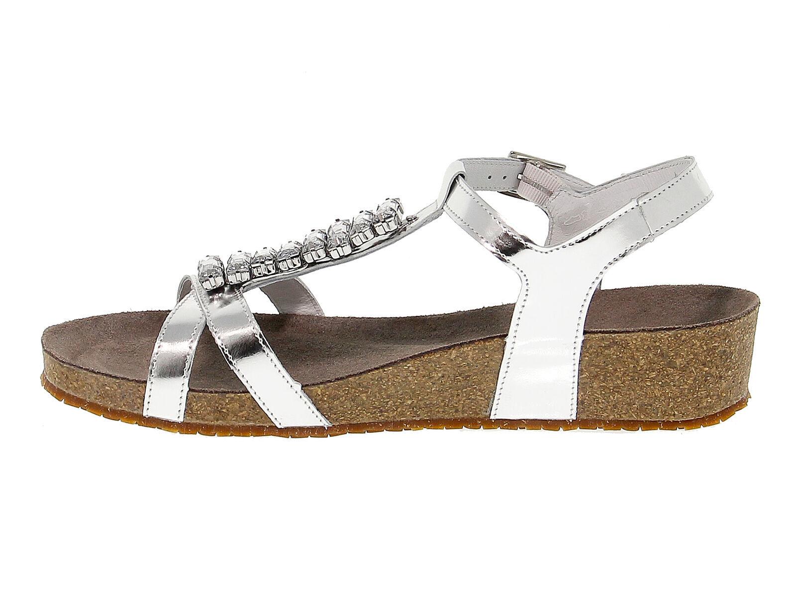 Flache Sandalen MEPHISTO IBELLA in argento leder - Schuhe Damen