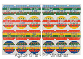 FE/OTC Christmas Party Ugly Sweater Contest Award Stickers 24 Pieces - $7.87