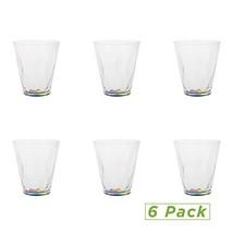 Mind Reader 6RTUM11-CLR 11 Oz Rainbow, Acrylic Drinking Glass, Modern Sh... - $44.98