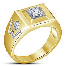 Lovely Designer Men's 14K Yellow Gold Finish Solid 925 Silver Wedding Ba... - $84.50