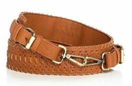 Street Level NWT Brown Purse Guitar Strap Lizzy Wide Woven Faux Leather ... - $31.33