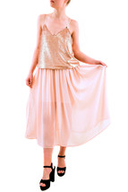 Keepsake Women's Blame It On Me Sequin Midi Dress Soft Peach M RRP $115 ... - $113.85