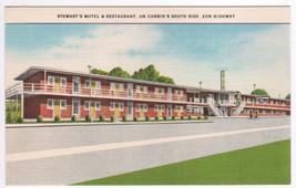 Stewarts Motel Corbin Kentucky Highway 25W linen postcard - $5.94