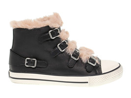 Sneakers ASH VALKO in black soft leather - Women's Shoes - $126.54