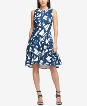 Dkny Stamped Line-Print Fit & Flare Dress Pick your size  #967 - $29.99