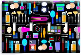Beauty Salon Hair Studio Spa Equipment Light Switch 4 Gang Wall Plate Room Decor - $17.99