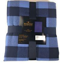 """Pendleton Rob Roy Luxe 100% Polyester 50""""x70"""" Throw Blanket Blue Plaid NWT image 3"""