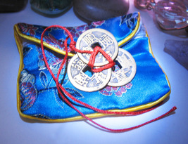 Haunted Freebie Lucky Coins W/ Pouch Luck Wealth ++Magick Witch Albina Cassia4 - $0.00