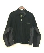 Jack Daniels Black Rain Jacket Zip Up Gear For Sports Men's Medium Polye... - $39.99