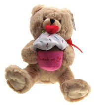 Ganz Teddy Bear Holding Sweet On You Cupcake Plush Heart Stuffed Animal ... - $11.99