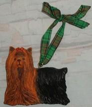 """Kurt Adler Dandy Dogs Yorkshire Terrier Dog Christmas Ornament Yorkie 2.5"""" Long  - $6.92"""
