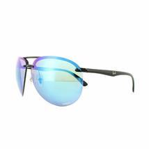 Ray ban Gafas de Sol RB4293CH 601/A1 64 Negro Polarizado Azul Espejo Chromance - $138.59