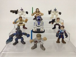 "Star Wars Galactic Heroes Lot of 9 Toy Figures 3"" Anakin Skywalker R2-D2 Hasbro - $19.55"