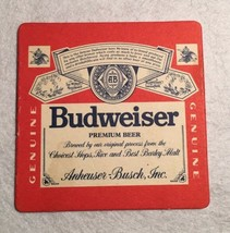 VINTAGE BEER MAT COASTER - DOUBLE SIDED - BUDWEISER  (FF16) - $5.60