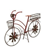 37-Inch Long Solar-Powered Metal Antique-Style Bicycle Plant Stand Garde... - $89.09