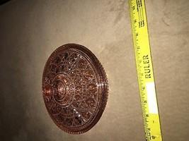 Copper color cut glass antique - $48.38