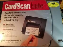 Corex 1999 CardScan 500 Executive Business Card Scanner Version 6 Softwa... - $37.36
