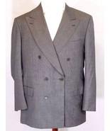 "BRIONI""PLINIO""Mens 43R/43 R-Gray Wool Double-Breast Suit Jacket (42R-44R... - $97.99"