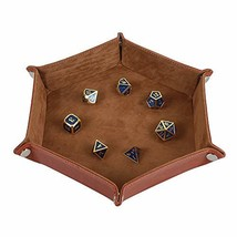 Dice Tray Metal Dice Rolling Tray Holder Storage Box for RPG DND Table Games, Do