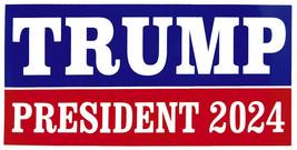 Trump President 2024 Presidential Campaign RWB Vinyl Decal Bumper Sticker - $6.99