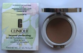Clinique Beyond Perfecting POWDER Foundation + Concealer ~ 09 NEUTRAL ~ NIB - $24.99