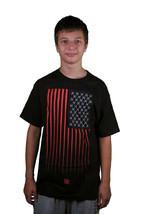 In4mation OS Bless Amérique T-Shirt USA Tête de Mort Drapeau Tee Noir