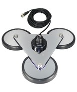 Tram 2692 5-Inch Tri-Magnet CB Antenna Mount with Rubber Boots and 18-Fo... - $79.08